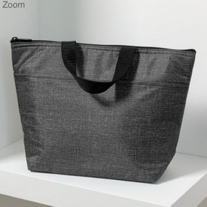 Thirty-One Thermal Tote - Charcoal Crosshatch
